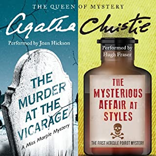 'Murder at the Vicarage' & 'The Mysterious Affair at Styles' audiobook cover art