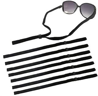Adjustable Eyewear Retainer KINDPMA 8 Pack Sunglasses Holder Straps Safety Glasses Eyeglasses Neck Cord String Rope Lanyard Strap Fit for Men Children Cycling Sports Reading,Black 34cm/ 13.39''