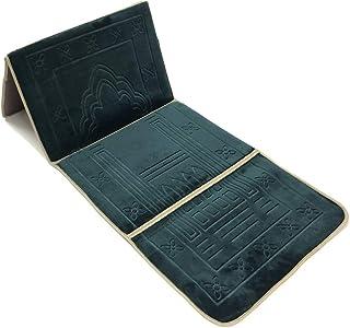 Foldable Prayer mat and Backrest 2 in 1,I-2 Green