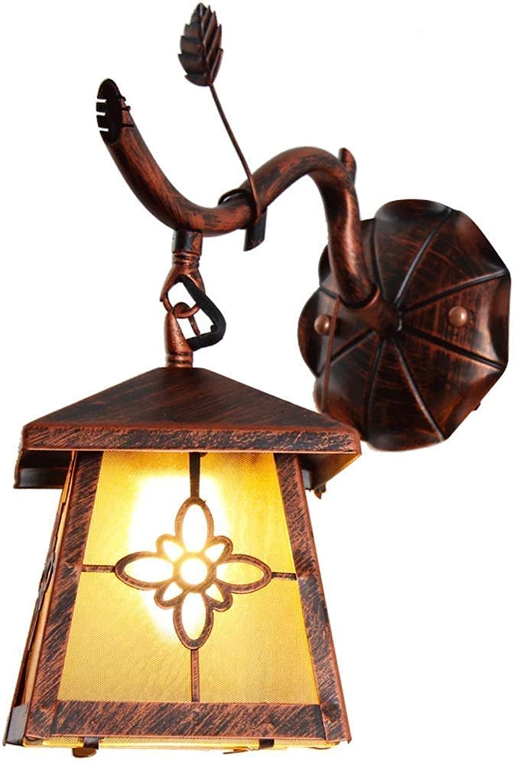 Perfect Home Wrought Iron American Country Retro Wall lamp Living Room Dining Room Aisle Bedroom Bedside lamp Study Creative Wall lamp Durable