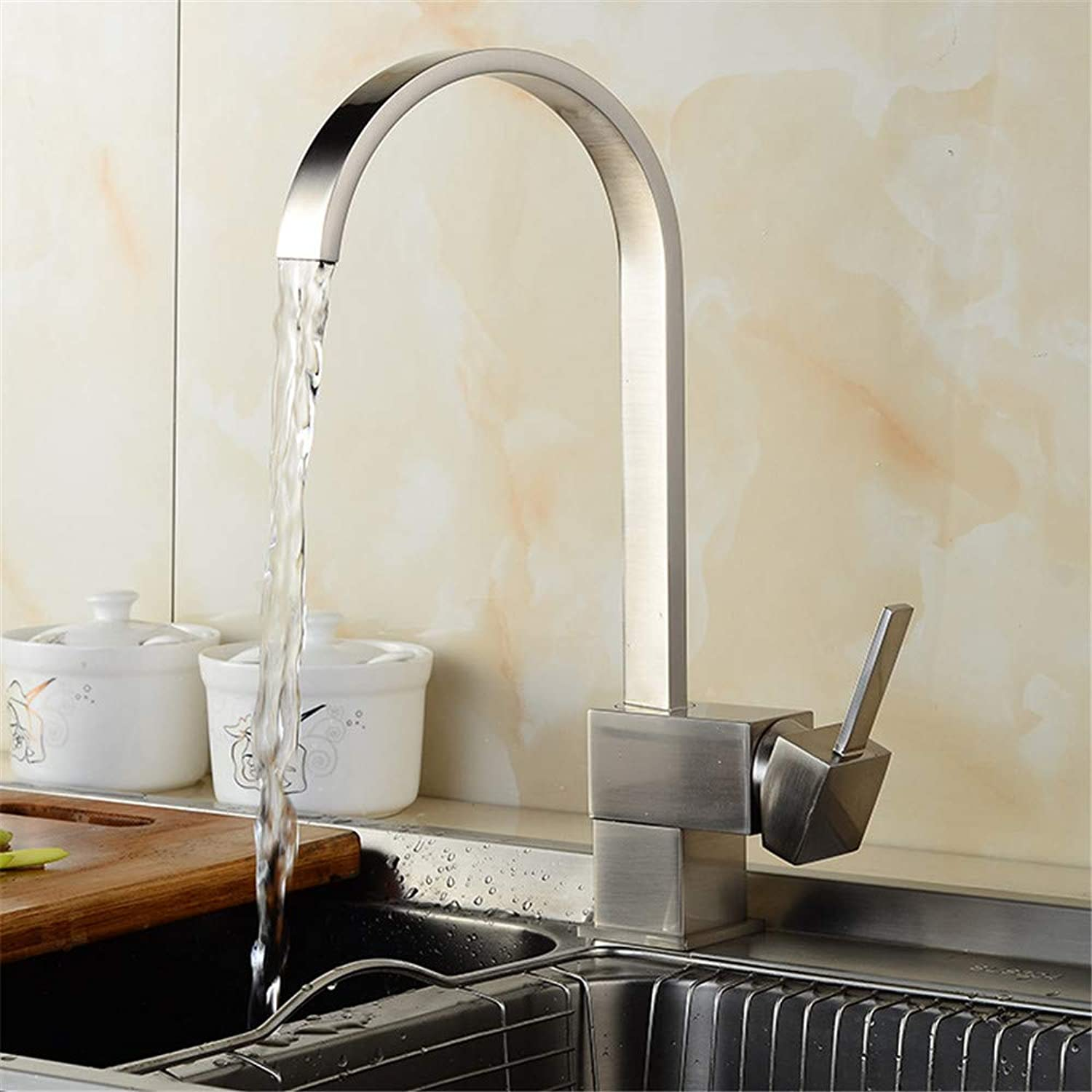 SYW Brass Faucet Kitchen Faucet hot and Cold Water Mixing Thermostat Faucet Kitchen Sink Faucet