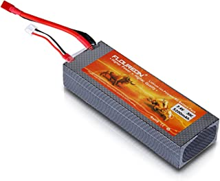 FLOUREON 2S Lipo Battery 7.4V 30C 5200mAh RC Batteries Rechargeable Battery Hard Case with T Plug for 1/8 and 1/10 rc car, Losi, Traxxas Slash, Team Associated, Axial, Tamiya Duratrax, Redcat Racing