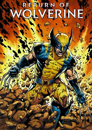 Return of Wolverine: Notebook, Marvel Tops DC, Comics, Superhero, Cartoon Character, Journal, Diary (130 Pages, 8.27' x 11.69', in lines with a ... for Kids Teens Students Adults, Cover Soft