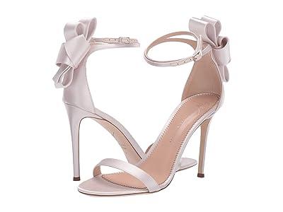 Giuseppe Zanotti Alina Bow Heel Sandal (Raso Rosa) Women