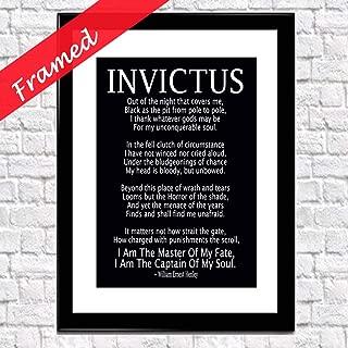 Invictus Poem Framed Art Print by William Ernest Henley (Chalkboard Black)