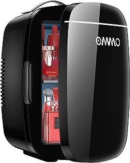 Mini Frigo de Chambre 6L/8 Canettes, OMMO Portable Petit Réfrigérateur Cosmétique Glacière Electrique Chaud/Froid pour Boi...
