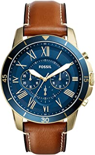 Fossil Men's Grant Sport Stainless Steel and Leather Chronograph Quartz Watch