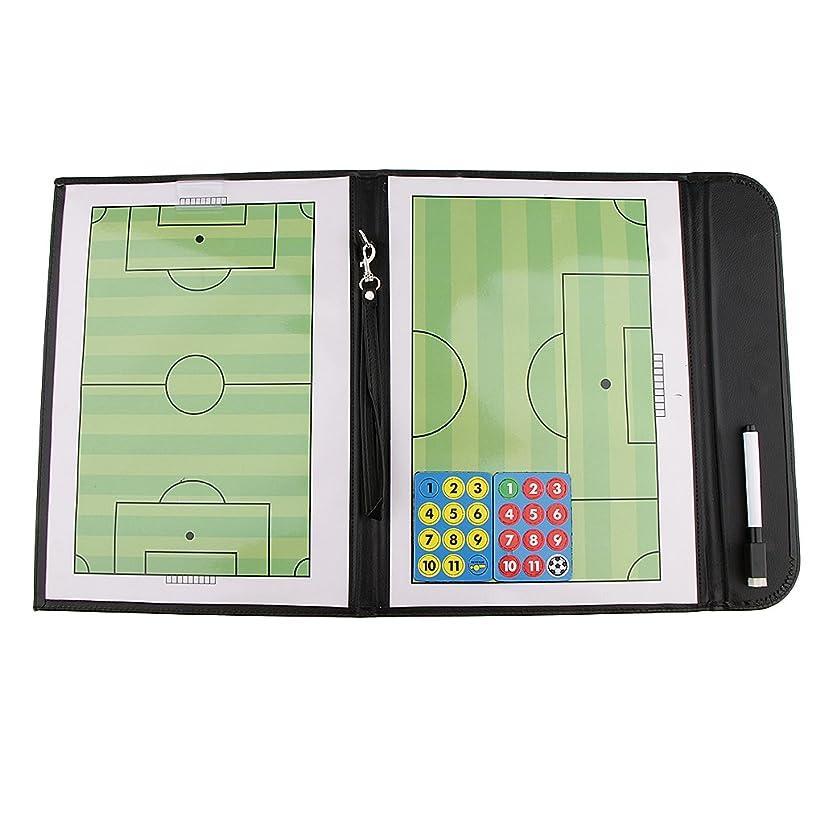 新着パンチ宝石Flameer 磁気 サッカー用戦術ボード タクティクスボード コーチボード 戦略 指導 作戦板 ペン付 折り畳み 54 x 32 cm