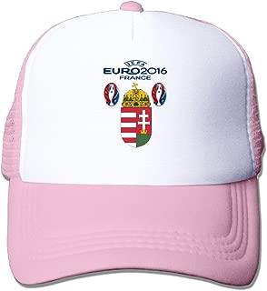 Funny Euro 2016 Hungary Football Logo Adult Nylon Adjustable Mesh Hat Snapback Hat Ash One Size Fits Most