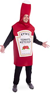 Saucy Tomato Ketchup Bottle Halloween Costume | Fun Food, Adult One-Size Unisex