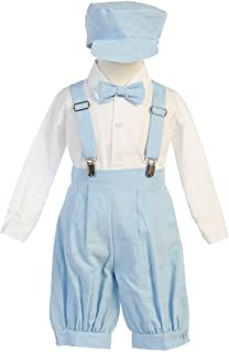 a758e8164 FREE Shipping on eligible orders. Lito Little Boys Light Blue Suspenders  Short Pants Hat Easter Outfit Set 2-4T