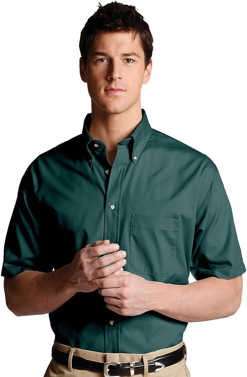 Ed Garments Men's Short Sleeve Poplin Shirt, TEAL, XXXXX-Large T