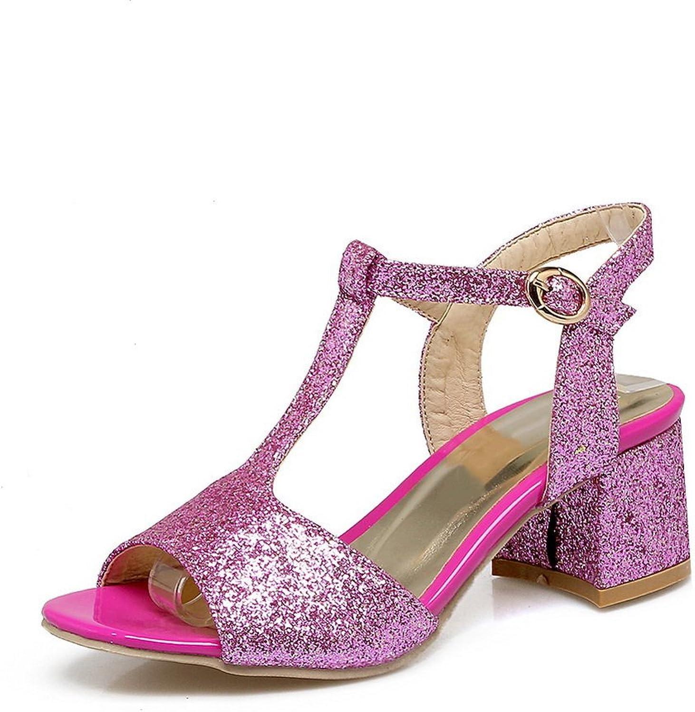 AN Womens Baguette-Style Peep-Toe Casual Urethane Sandals DIU00769