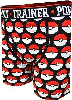 Bioworld Merchandising Men's Nintendo Pokemon Pokeball Boxer Briefs