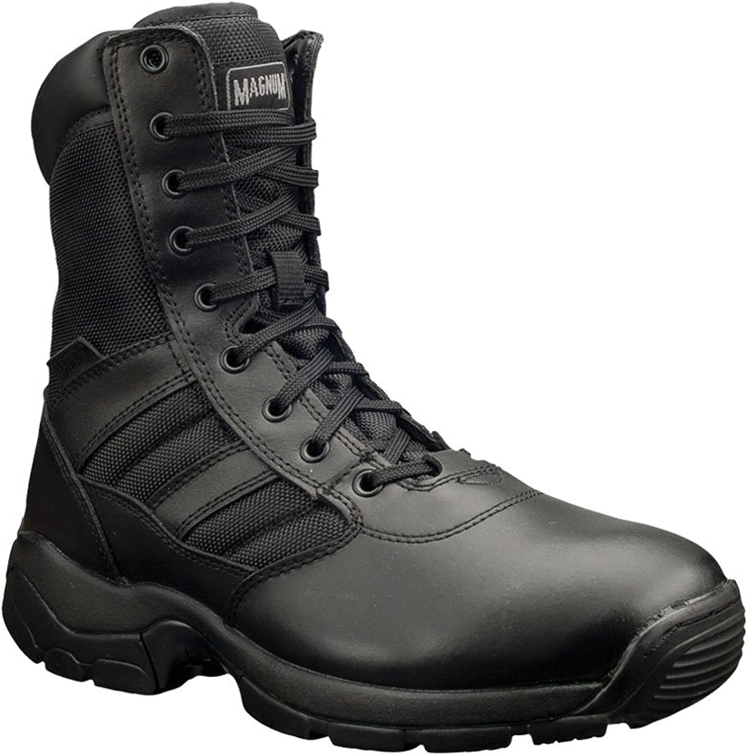 Alexandra Magnum STC-FW525BK-10 Panther 8.0 Safety Boot, Plain, Leather, Size  10, Black