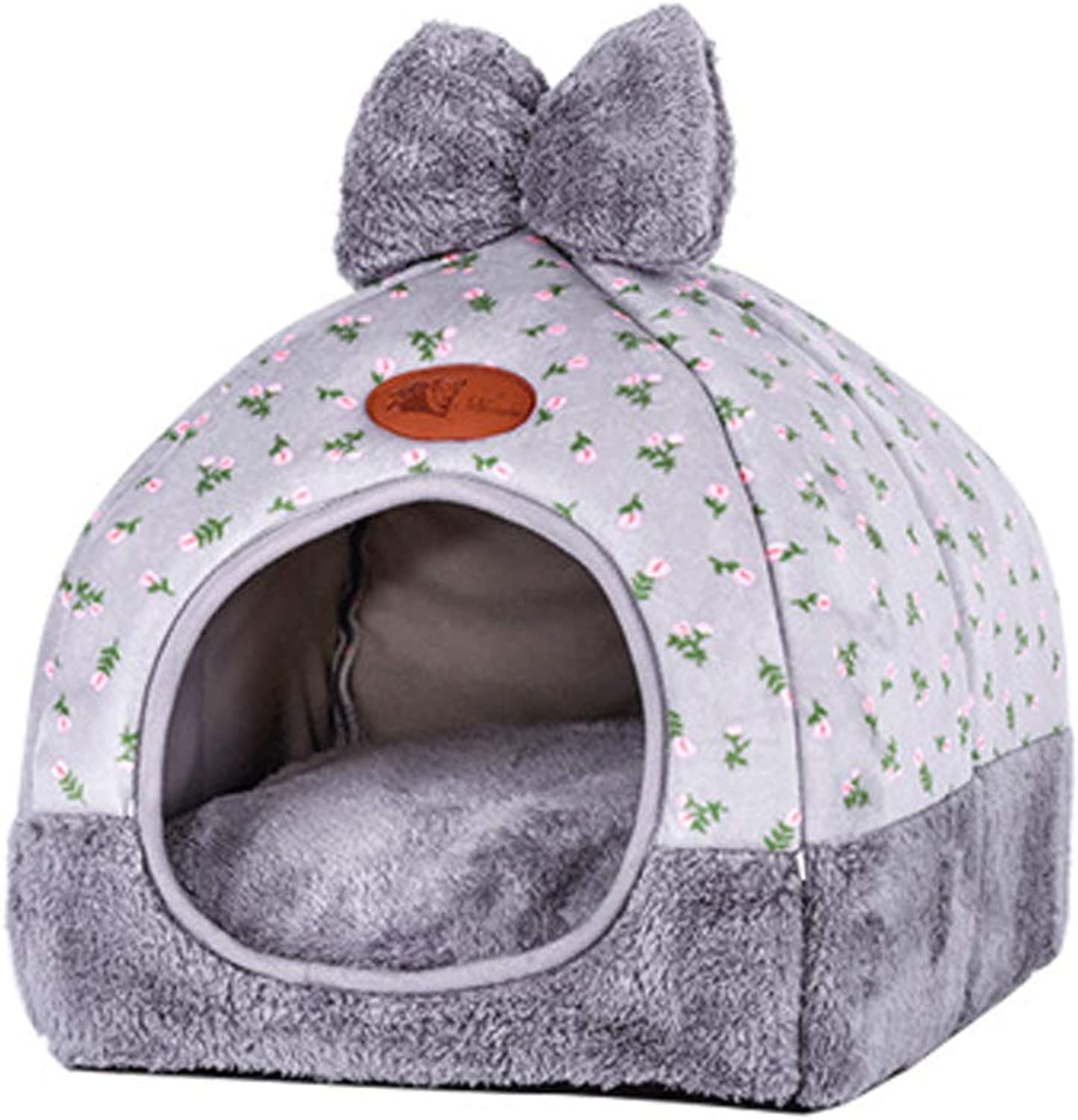 Dog Bed Plush Soft Comfortable Puppy Dog Cat House Washable Removable Foldable Four Seasons