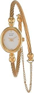 ساعة انالوج بمينا باللون الابيض للنساء من تيتان راغا