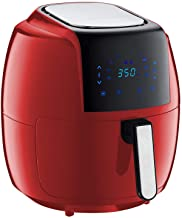 GoWISE USA 1700-Watts 7-Quarts 8-in-1 Digital Touchscreen Air Fryer 50 Recipes for your Air Fryer Cookbook (Red)