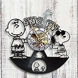 Charlie Brown & Snoopy Vinyl Record Wall Clock Fan Art Handmade Decor Unique Decorative Vinyl Clock 12' (30 cm)