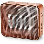 JBL GO 2 kleine Musikbox in Orange – Wasserfester, portabler Bluetooth-Lautsprecher mit Freisprechfunktion – Bis zu 5 Stunden Musikgenuss mit nur einer Akku-Ladung