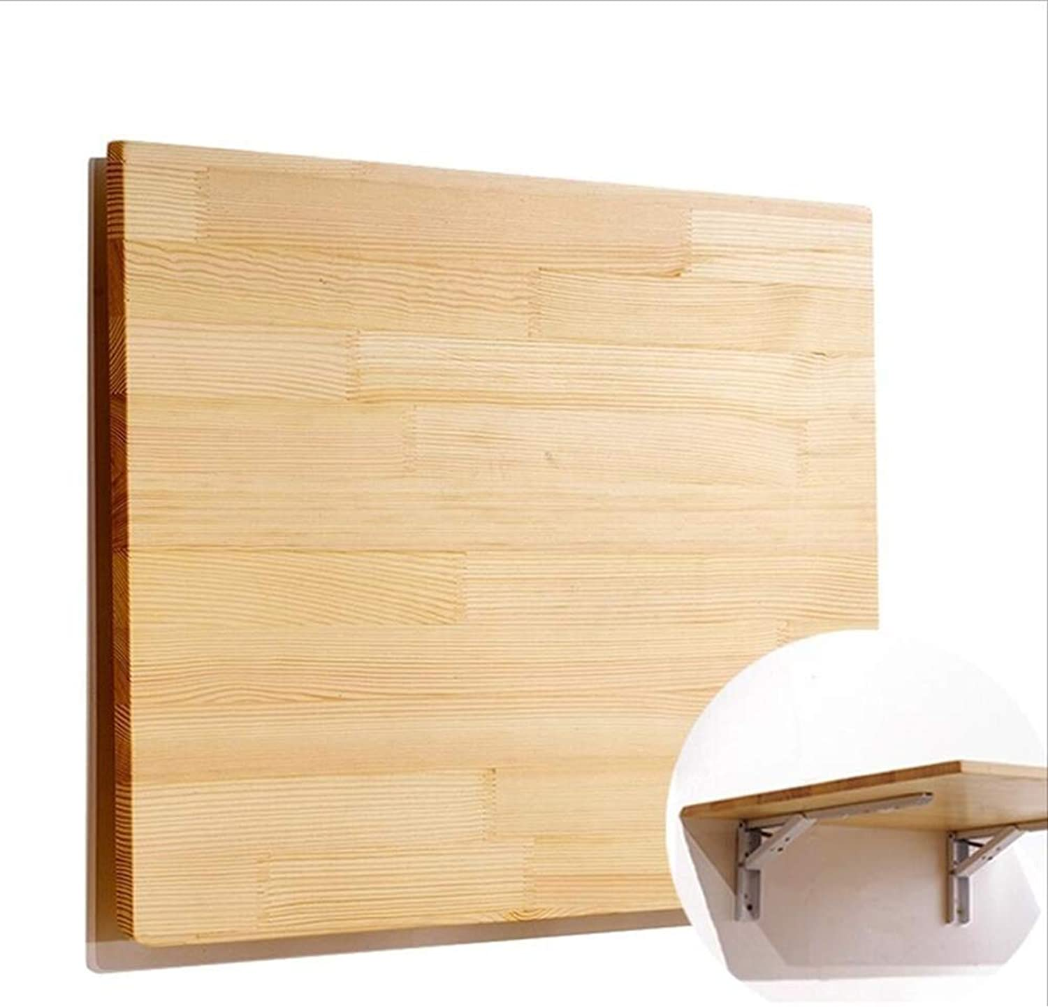 LIANGLIANG Wall-Mounted Table Desk Wall-Mounted Drop-Leaf Folding Table Creative Against The Wall Suspension Storage Multi-Function Dining Table Bar Counter Pine, 21 Sizes
