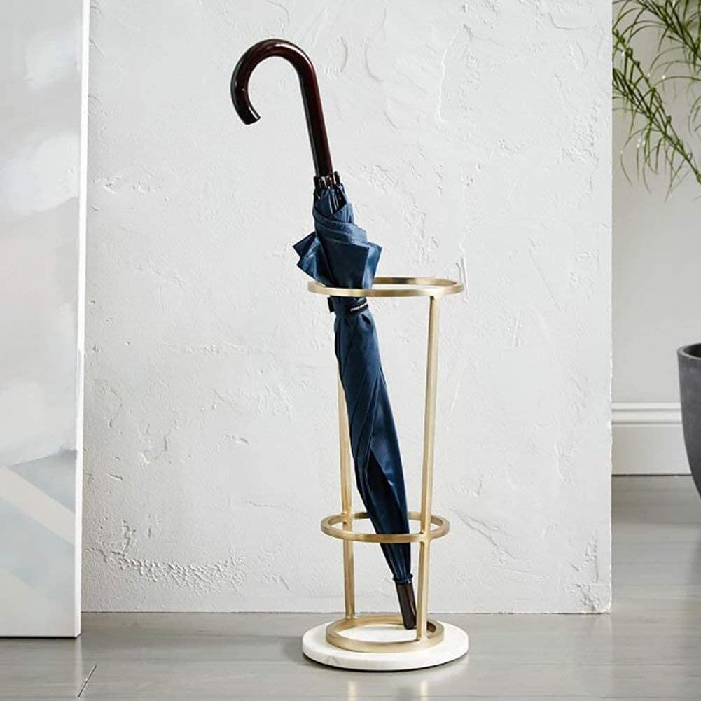 Umbrella Stand Marble Creative Iron Household Direct stock discount Lobby specialty shop Hotel Round