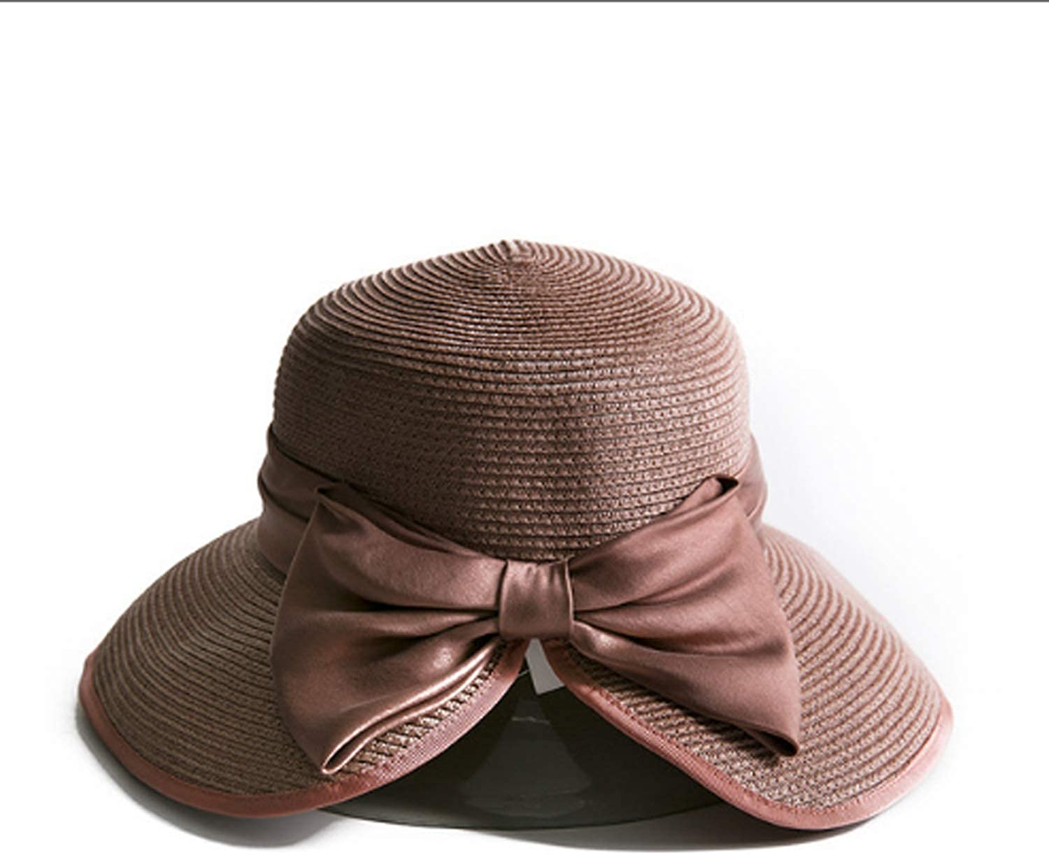 Hat Spring-Summer Women Sunscreen Shade Outdoor Straw Hat Classic (color   SW120138-C, Size   M)
