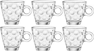 Bormioli Rocco 1316210Dots Tasse pour Espresso en Verre sans plat, 10cl ( Lot de 6 )