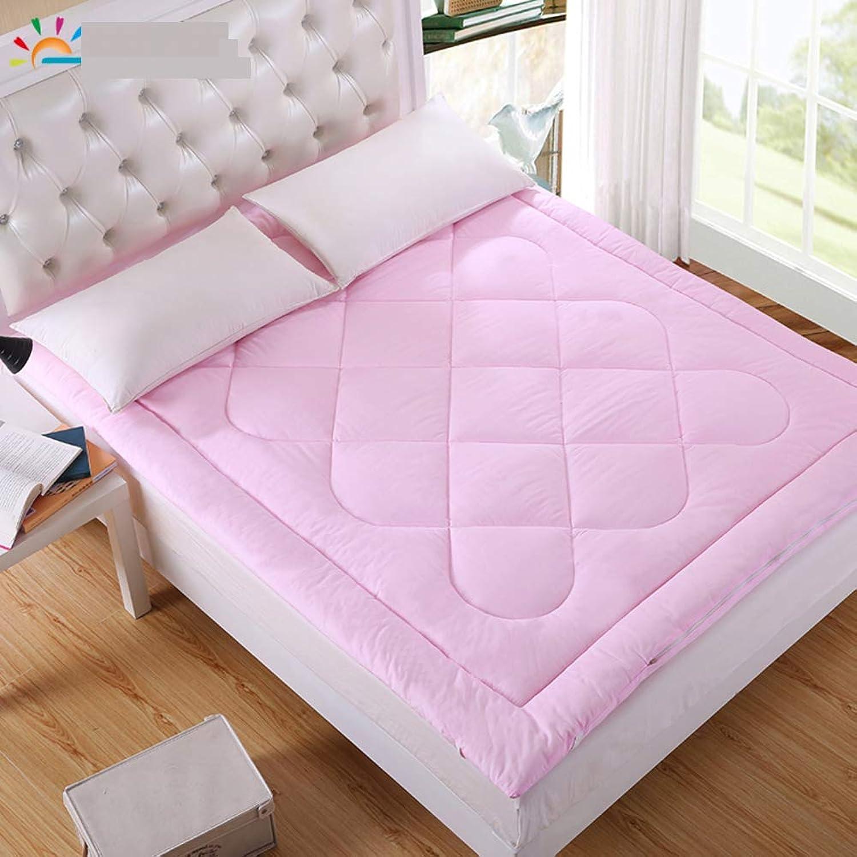 Cotton Single Dormitory Mattress,Small pad Thickened Tatami Double 1.8m Non-Slip Soft Mattress Floor mat Portable Sleeping pad-Pink 135x200cm(53x79inch)