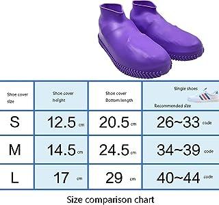 Botas de lluvia- Botas de lluvia impermeables antideslizantes antideslizantes impermeables antideslizantes de silicona para hombres y mujeres, adultos, niños, goma, látex, cubiertas de zapatos