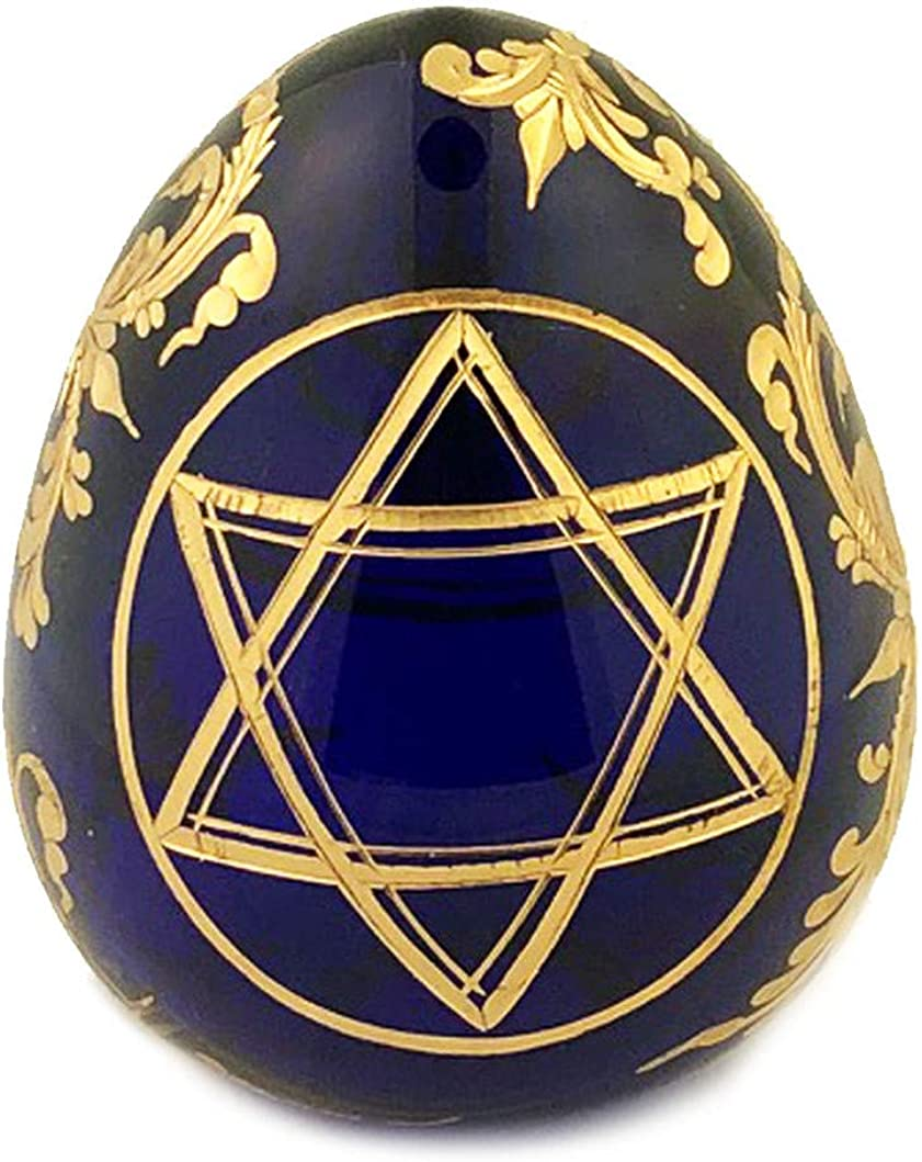 Catholic Religious Russian Limited time trial price Glass Egg of Judaica Financial sales sale Star David M
