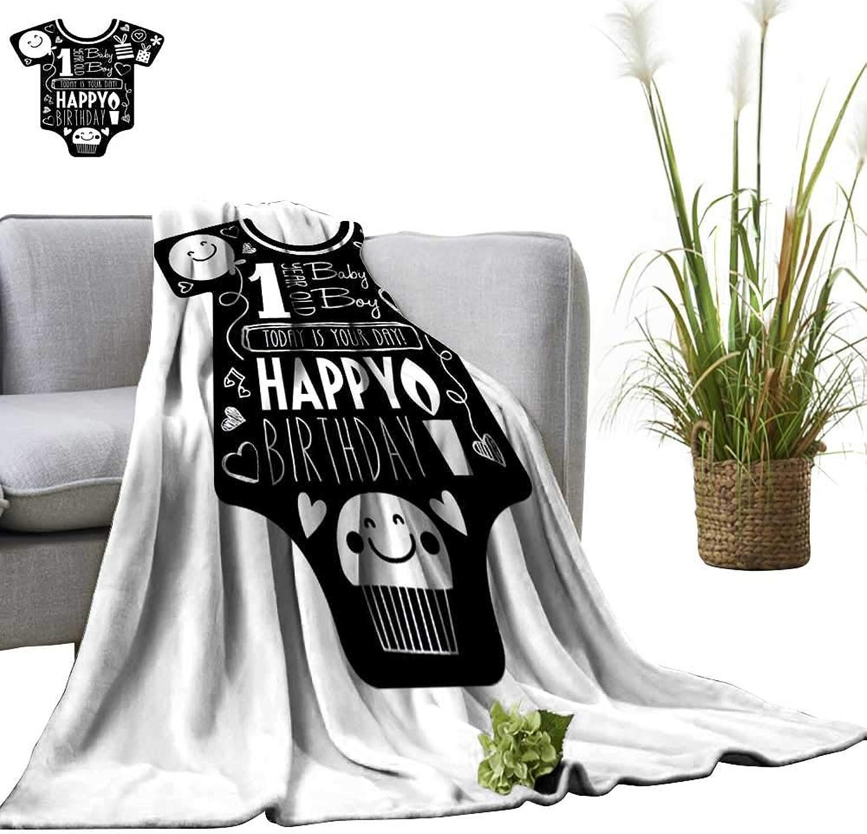 YOYI Soft Blanket Microfiber Birthday car for one Year Baby boy Baby Clothes Background Easy Travel 60 x70
