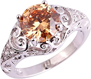 morganite crystal ring