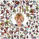 Tatuajes Temporales para Niños Niñas, Avengers Tatuajes Temporales, Tatuajes Falso de Avengers, Tatuajes para Niños, Tatuaje Pegatina Niños Cumpleaños, Regalo de Decor Fiesta para Niños y Niñas