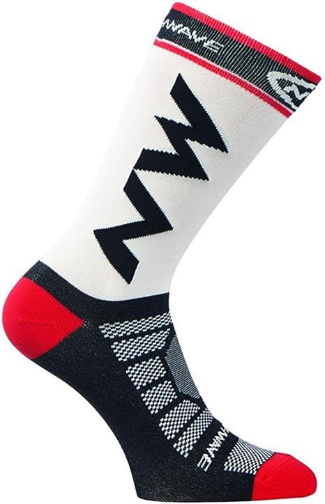 E-House - Calcetines de fútbol para Fiestas, Transpirables, para Correr, Escalada, Color Rojo