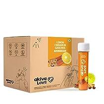 Akiva Superfoods Weight Management Health Shots with Lemon, Honey and Cinnamon, 600ml (15 Shots x 40