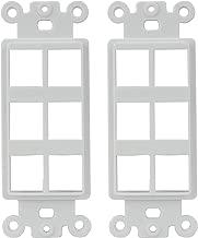 AllSmartLife Wall Plate QuickPort Decora Insert for 6-Port Keystone Jack - White