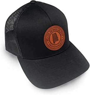 State Homegrown Alabama Pride Leather Patch Trucker Hat
