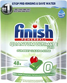 48pc Finish Powerball Quantum Ultimate Pro 0% Dishwasher Tablets Home Cleaning
