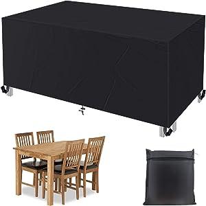 Patio Furniture Cover, Zpose Outdoor Furniture Cover, Patio Furniture Covers Waterproof, 420D Oxford Durable Patio Cover, Patio Covers for Outdoor Furniture, Patio Table Cover, Outdoor Table Cover