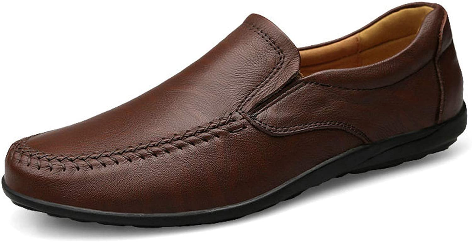 Small oranges Soft Genuine Leather Slip On Men Loafers Fashion Men's Flats Breathable Footwear Men Casual shoes