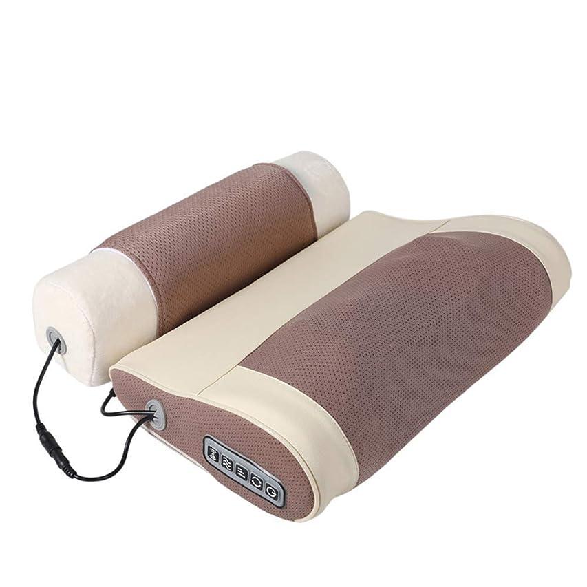 水銀のコンドームあさりAIWO指圧マッサージ枕クッション、首背中の肩筋肉の混練治療のための熱深いティッシュで首マッサージャーホームオフィス快適さ