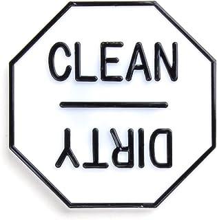 Fox Run Clean or Dirty Dishwasher Magnet, 2.5 x 2.5 x 0.25 inches, White