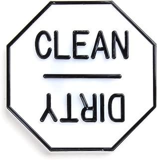 Fox Run 5935 Clean or Dirty Dishwasher Magnet, 2.5 x 2.5 x 0.25 inches, White