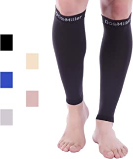 Doc Miller Calf Compression Sleeve - 1 Pair 15-20 mmHg Firm Calf Support