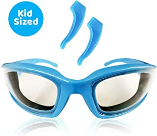 TruChef Kids Onion Goggles - TEAR FREE, Snug Fitting, Foam Lined Cooking Glasses for Kid Cooks - FREE EAR HOOKS included to ensure snug fit on kid chefs of all ages.