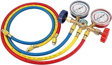 Compatible con R22 R12 R134-A R502 R410A R502 KESOTO Medidores y Manguera de Aire
