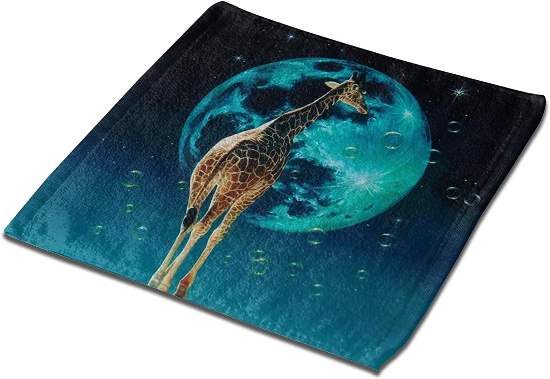 Jsragt Giraffe Towel 100% Absorbent Polyester Face Max Max 82% OFF 57% OFF Super