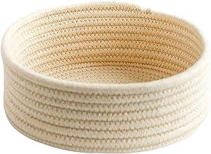 Woven Basket Round Small Handmade Desktop Snack Sundries Basket Storage Basket Key Cosmetic Coffee Table Storage Basket