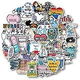 50 Pcs Nurse Stickers, Vinyl Nursing Stickers Decals for Laptops and Water Bottles, Nurse Accessories for Work